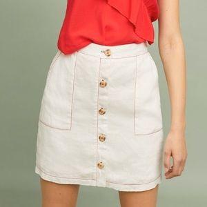 Anthropologie Amaldi 100% Linen Skirt